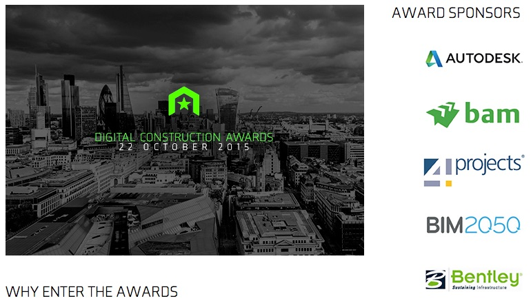 Digital Construction Week 2015 Awards